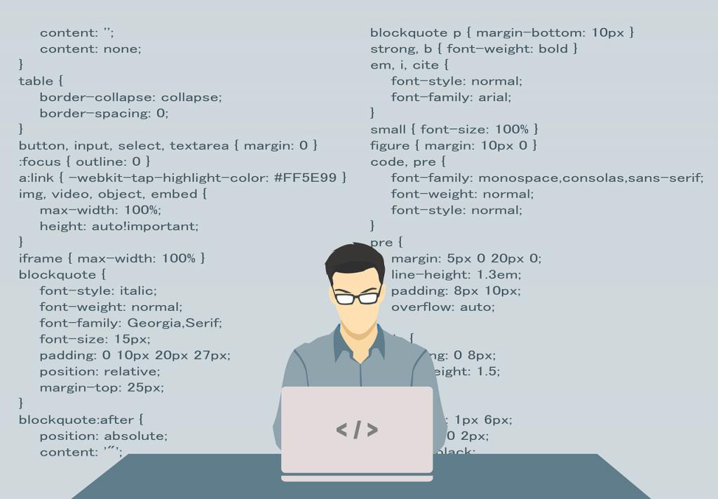 Web development tools.